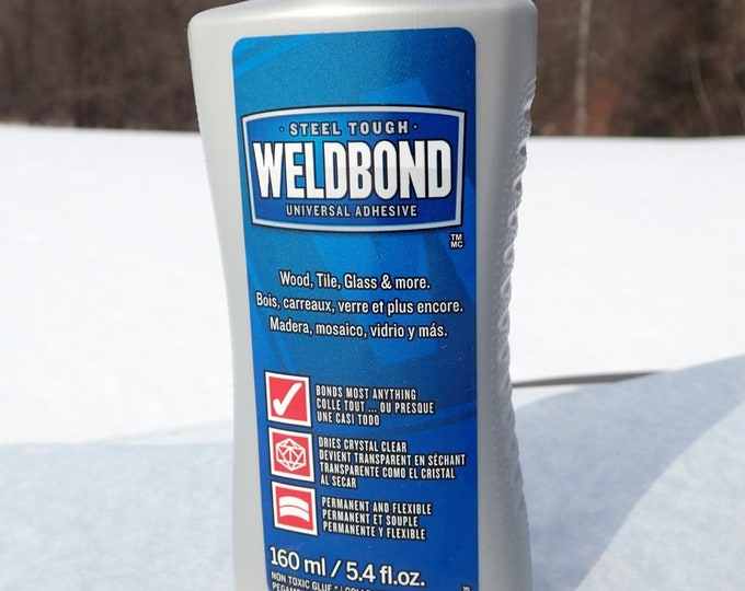 Weldbond 5.4 oz - Adhesive for Mosaics and Crafts - Clear Drying Sealant