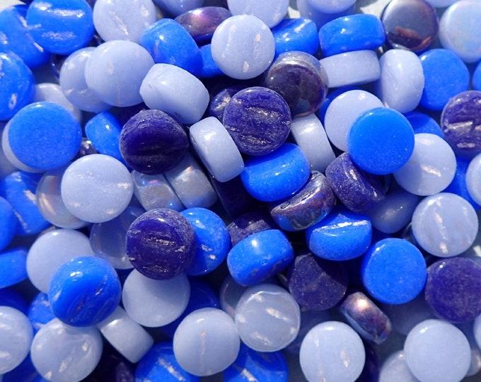 Blue Mix MINI Glass Drops Mosaic Tiles - 50 grams Darling Dotz
