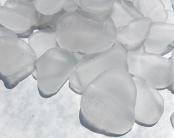 Tumbled Glass Clear Frosted - Half pound