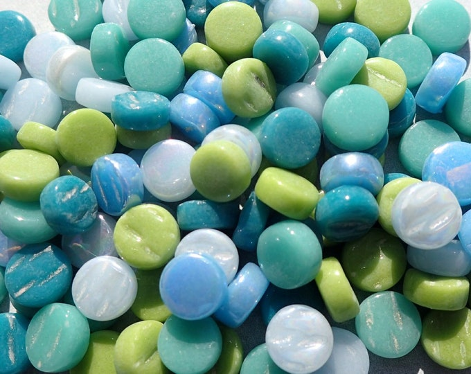 Coastal Mix MINI Glass Drops Mosaic Tiles - 50 grams