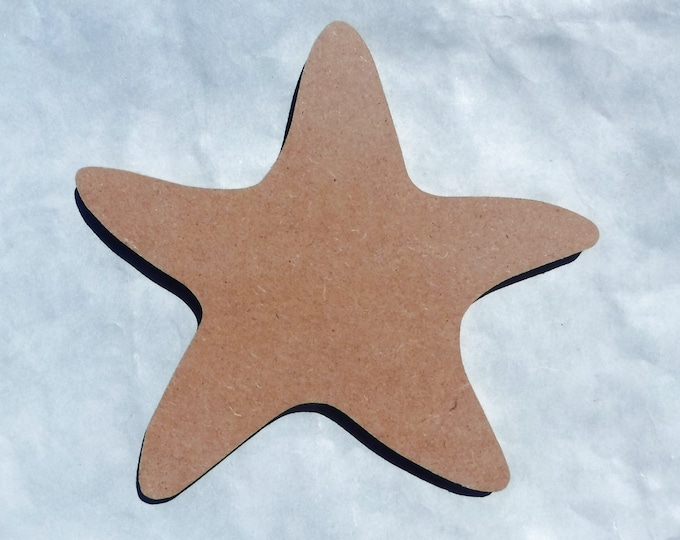 "Starfish Plaque - Unfinished MDF 8"" Sea Star"