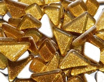 Gold Glitter Puzzle Tiles - 100 grams