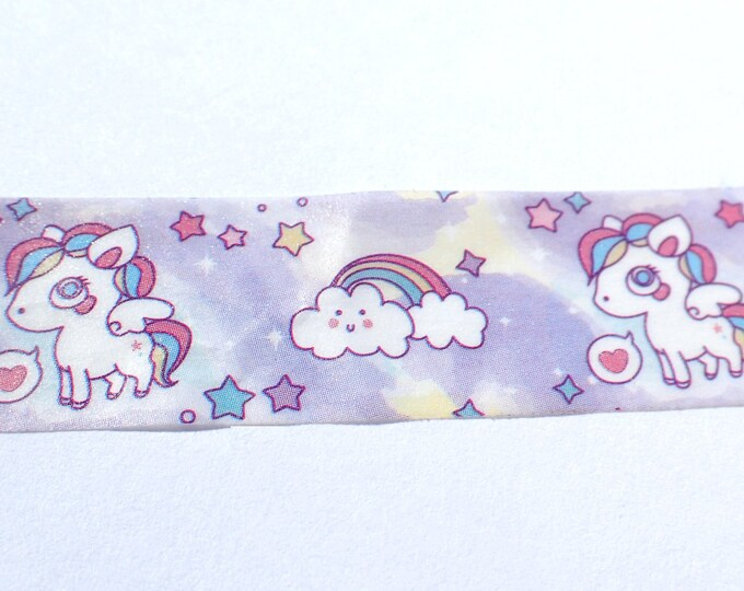 Unicorns and Rainbows Washi Tape - Paper Tape Great for Scrapbooking Paper Crafts and Decorations - 15mm x 10m
