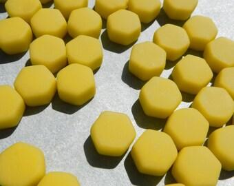 Mellow Yellow Hexagon Mosaic Tiles - 15mm - 100g