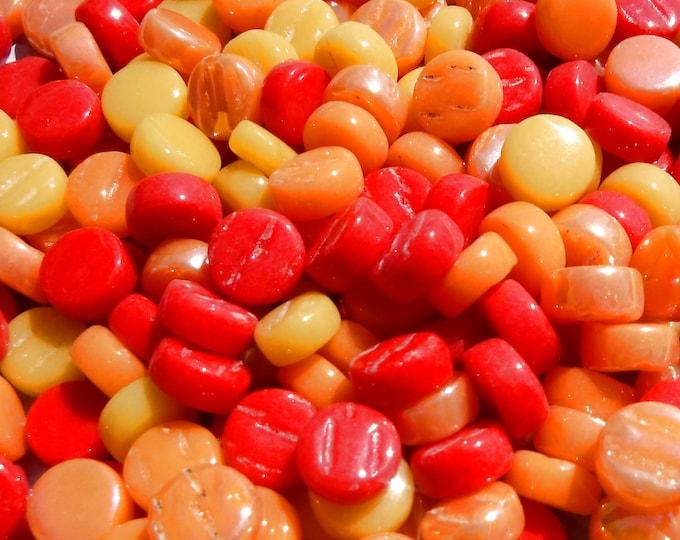 Fiesta Mix MINI Glass Drops - 50 grams - Orange Red Yellow