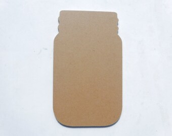 Mason Jar Plaque - Unfinished MDF Thin 8 inches