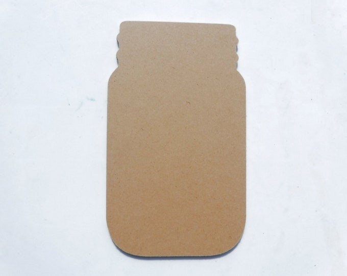 Mason Jar Plaque - Unfinished MDF Thin 8 inches