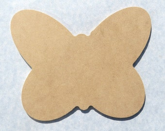 Butterfly Plaque -  Use as a Base for Mosaics Decoupage or Decorative Painting - Unfinished MDF Thin