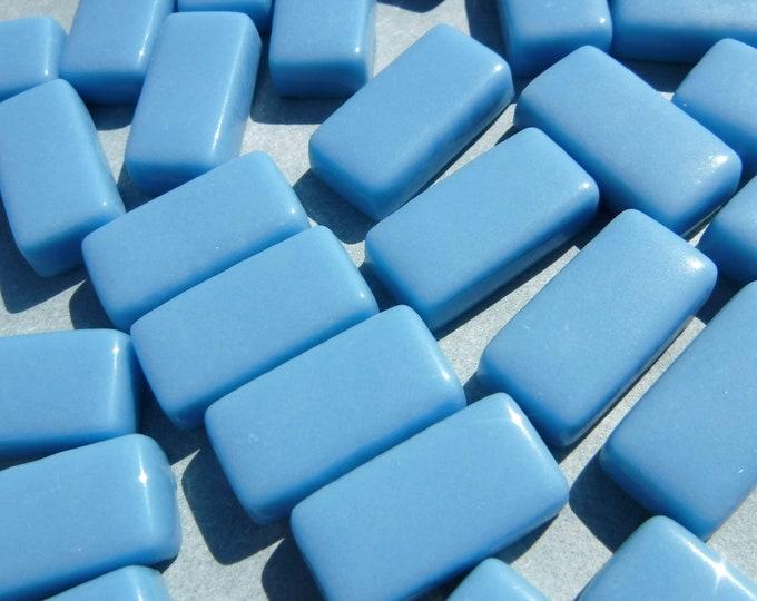 Light Blue Rectangle Mosaic Tiles - 15mm - 100g