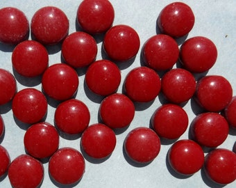 Red Earth Glass Gems - 100 grams of 12mm Mosaic Tiles in Dark Red