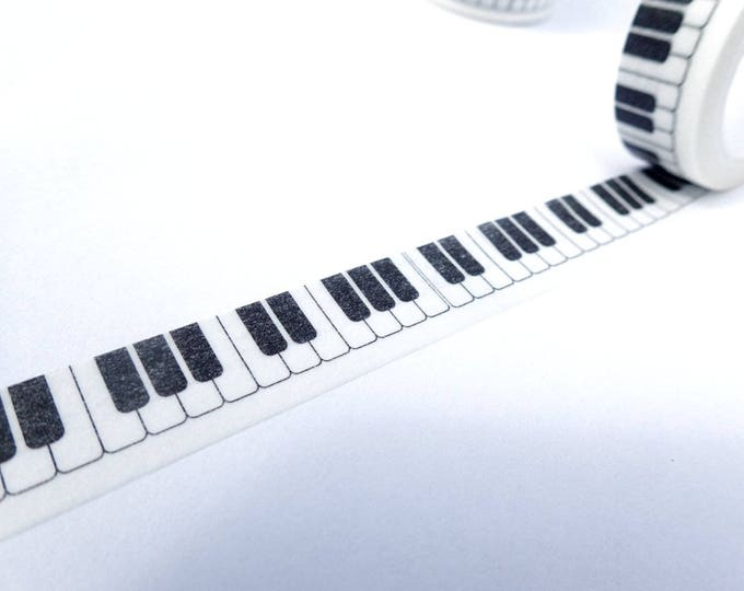 Piano Keys Washi Tape - Musical Keyboard Paper Tape Great for Scrapbooking Paper Crafts and Decorations - 15mm x 10m