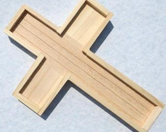 Wooden Cross for Mosaics and other Crafts - Trivet Wall Hanging Base