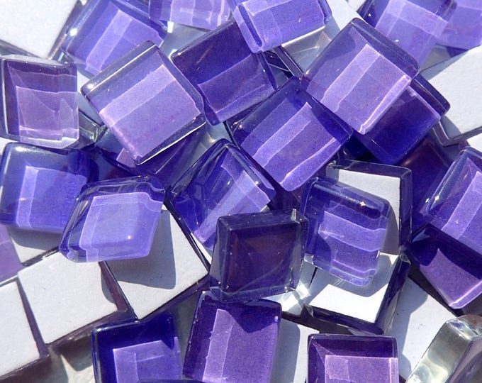 Purple Glass Tiles - 1 cm - Set of 100