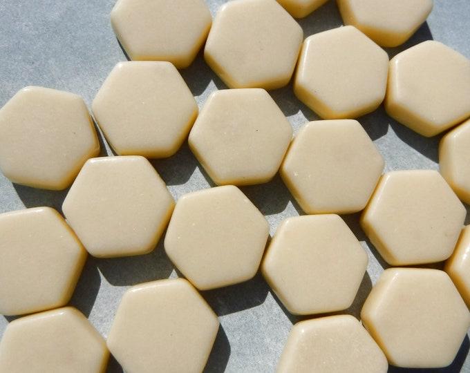 Beige Hexagon Mosaic Tiles - 15mm - 100g