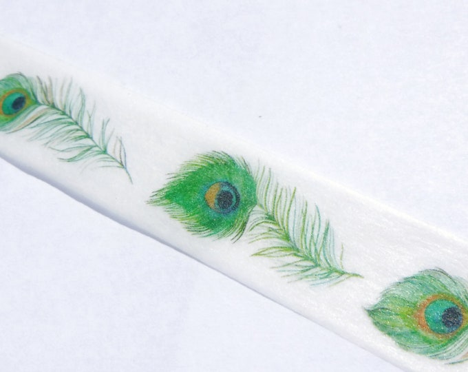 Peacock Feathers Washi Tape - 15mm x 10m