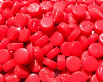Bright Red MINI Glass Drops Mosaic Tiles - 50 grams