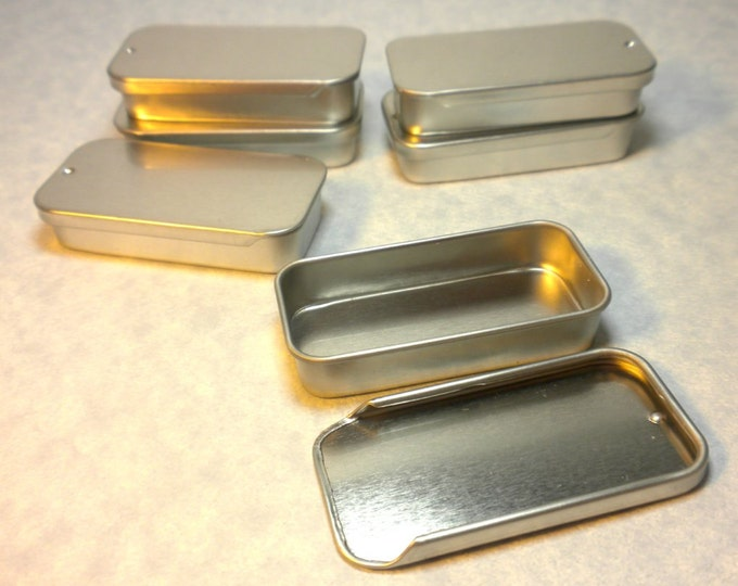 12 Slider Tins - Smaller size - Use for your Lip Balm Pendants and other Gifts and Goodies