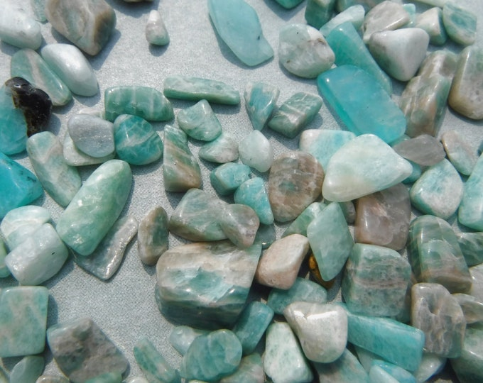 Blue Amazonite Small Stones - 50g