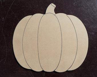 Pumpkin Plaque - Unfinished MDF Large 12 inch Sign DIY