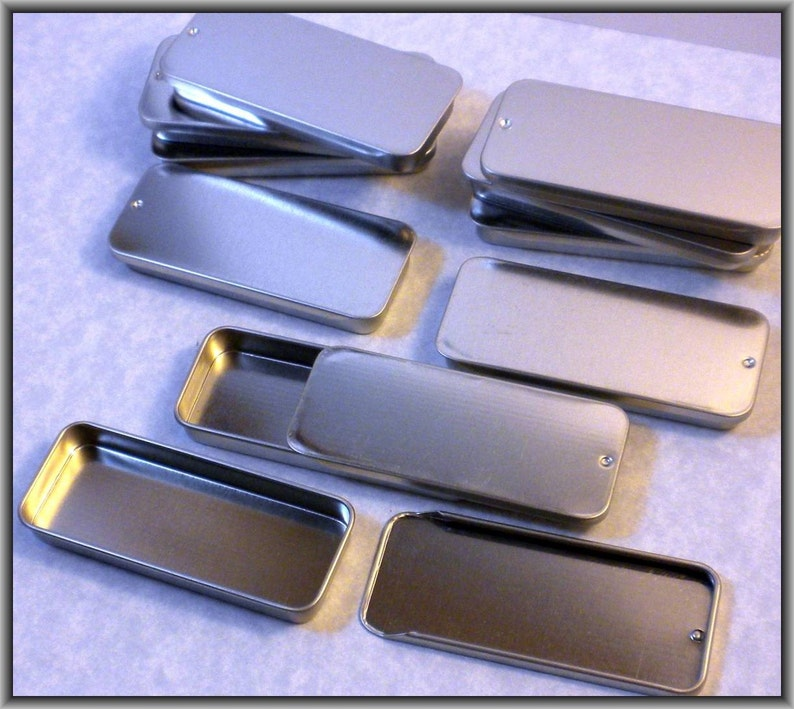 1 Slider Tin  Larger size  Use for your Pendants Magnets and image 0