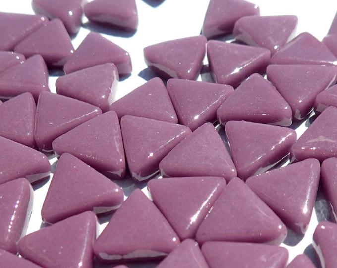 Small Purple Triangle Glass Mosaic Tiles - 10mm - 50g