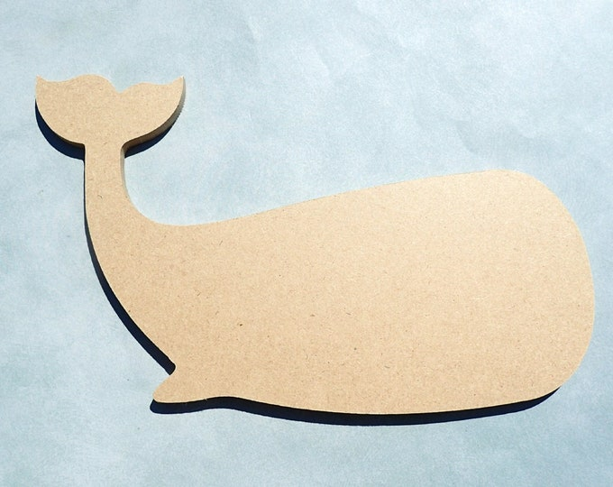 Whale Plaque -  Unfinished MDF