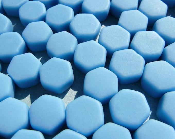 Light Blue Hexagon Mosaic Tiles - 10mm - 50g Matte Finish