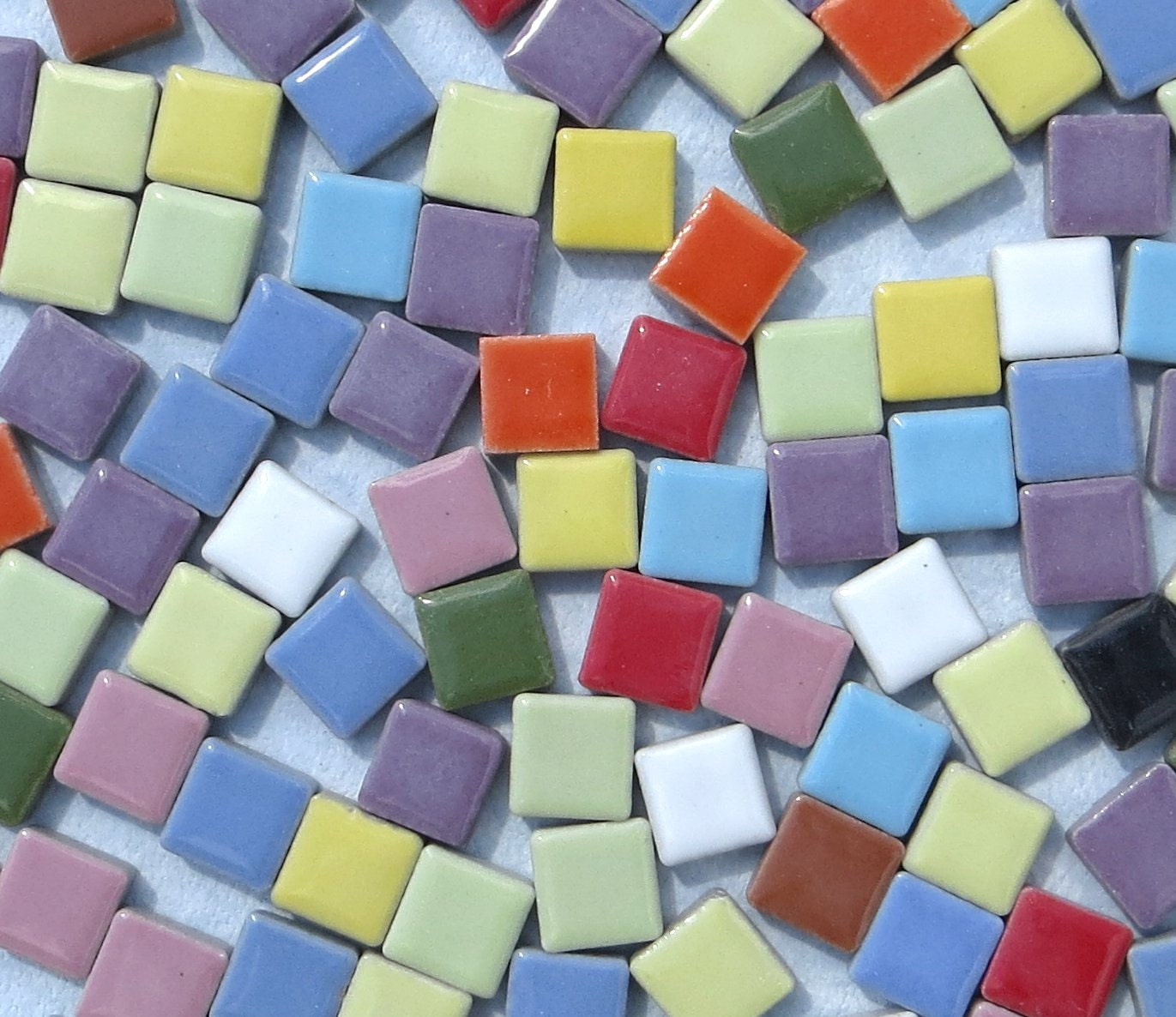 Tiny Square Mosaic Tiles In Assorted Colors Inch Ceramic Pound - 3 inch square ceramic tiles