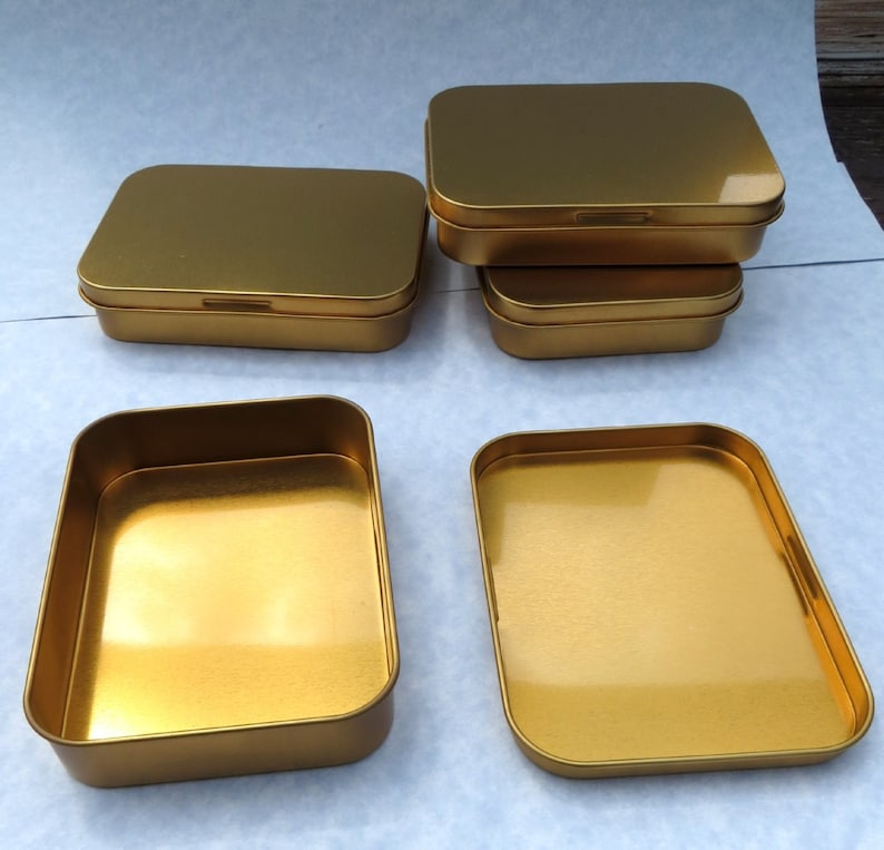 Set of 20 Copper Tin with Lid Use for your Pendants Magnets Favors and other Gifts and Goodies