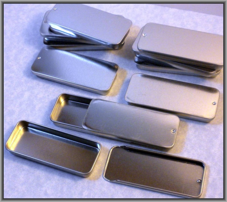 50 Slider Tins  Use for your Pendants Magnets and other Gifts image 0
