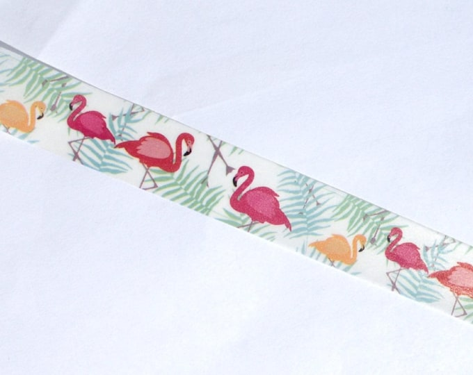 Pink Flamingos Washi Tape - Tropical Beach Birds - Paper Tape Great for Calendars Paper Crafts Organizing 15mm x 10m