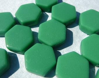 Mint Green Hexagon Mosaic Tiles - 15mm - 100g Opaque