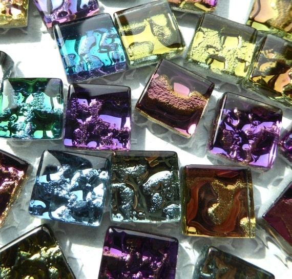 Metallic Glass Tiles Molten Metal Look Mosaic Tiles Half