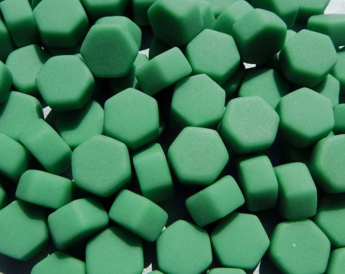 Mint Green Hexagon Mosaic Tiles - 10mm - 50g Matte Finish