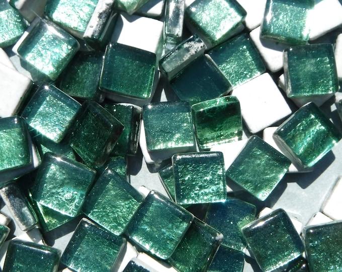 Budding Green Foil Square Crystal Tiles - 12mm - 50g