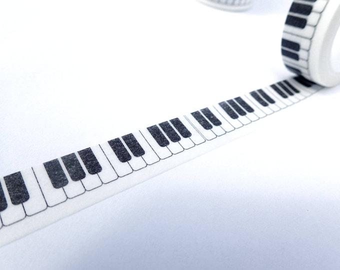 Piano Keys Washi Tape - Musical Keyboard Paper Tape  - 15mm x 10m