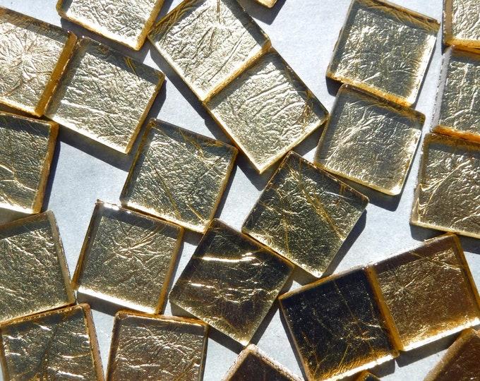 Gold Foil Square Tiles - 25 Tiles - 20mm