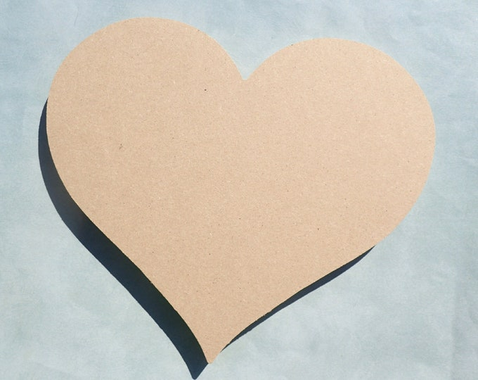 Heart Plaque - 8 inch - Unfinished MDF