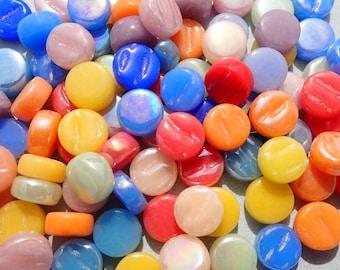 Bright Colors Mix MINI Glass Drops Mosaic Tiles - 50 grams