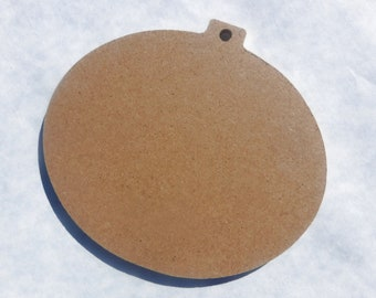 Oval Ornament Plaque - Unfinished MDF Thin