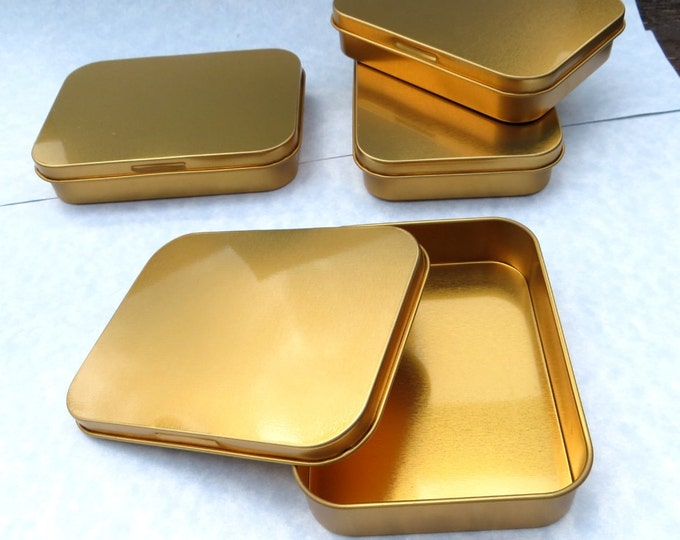 Copper Tin with Lid - Set of 20