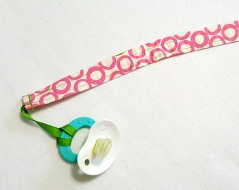 Pacifier Holder Clip Girl - Pink Paci Clip Binky Clip