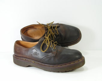 dr martens shoes womens u.s.10 10.5 brown oxford steampunk grunge uk size 8