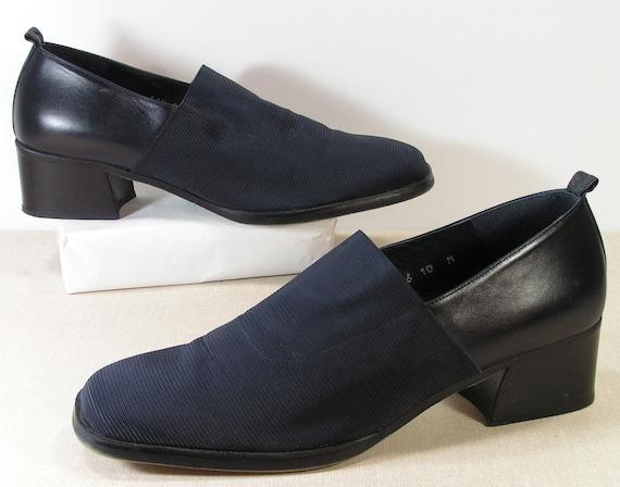 04a61a5bd00 donald pliner clogs womens 10 b m shoes navy blue elastic foot