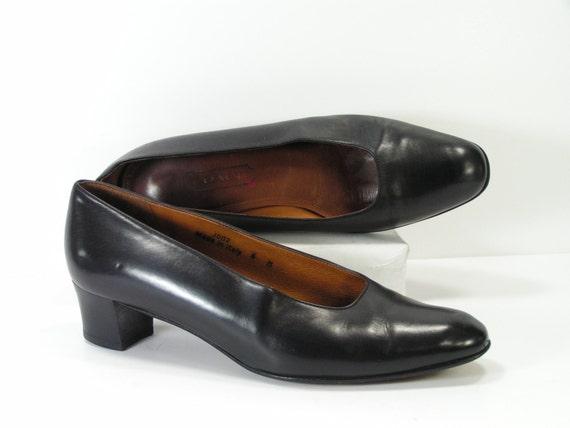 1f529f64f7b coach pumps womens 6 m b black leather high heels italy