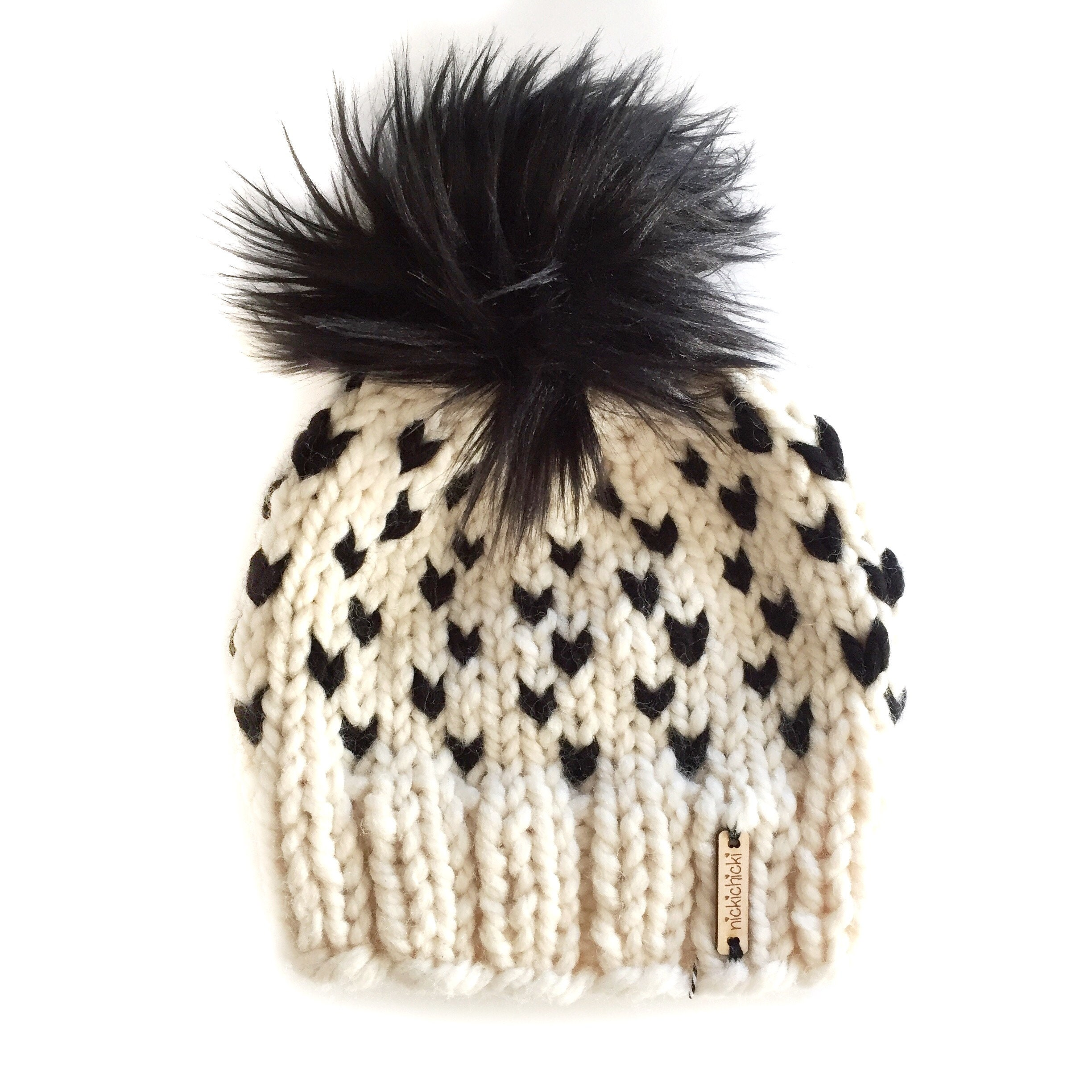 Baby Pom-Pom Beanie White Black Pom Pom Beanie Unisex Hat  6356156e435