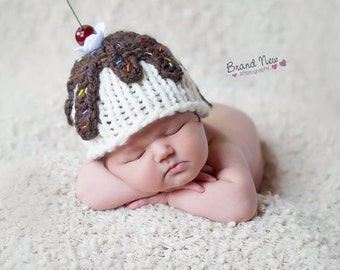 Newborn Ice Cream Sundae Hat