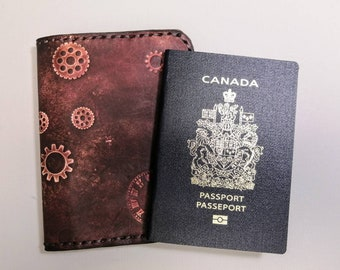 Steampunked Leather Passport cover
