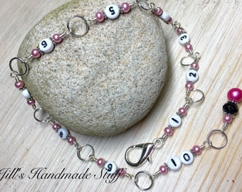 Knitting Row Counter Chain | Gift for Knitters | Counting Tools | Stitch Marker