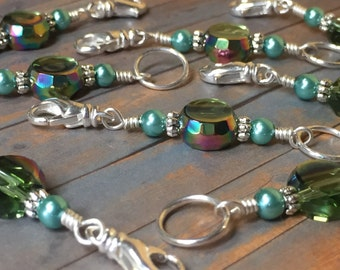 Double Stitch Markers - Green Removable and Snag Free Markers for Knitting & Crochet Markers